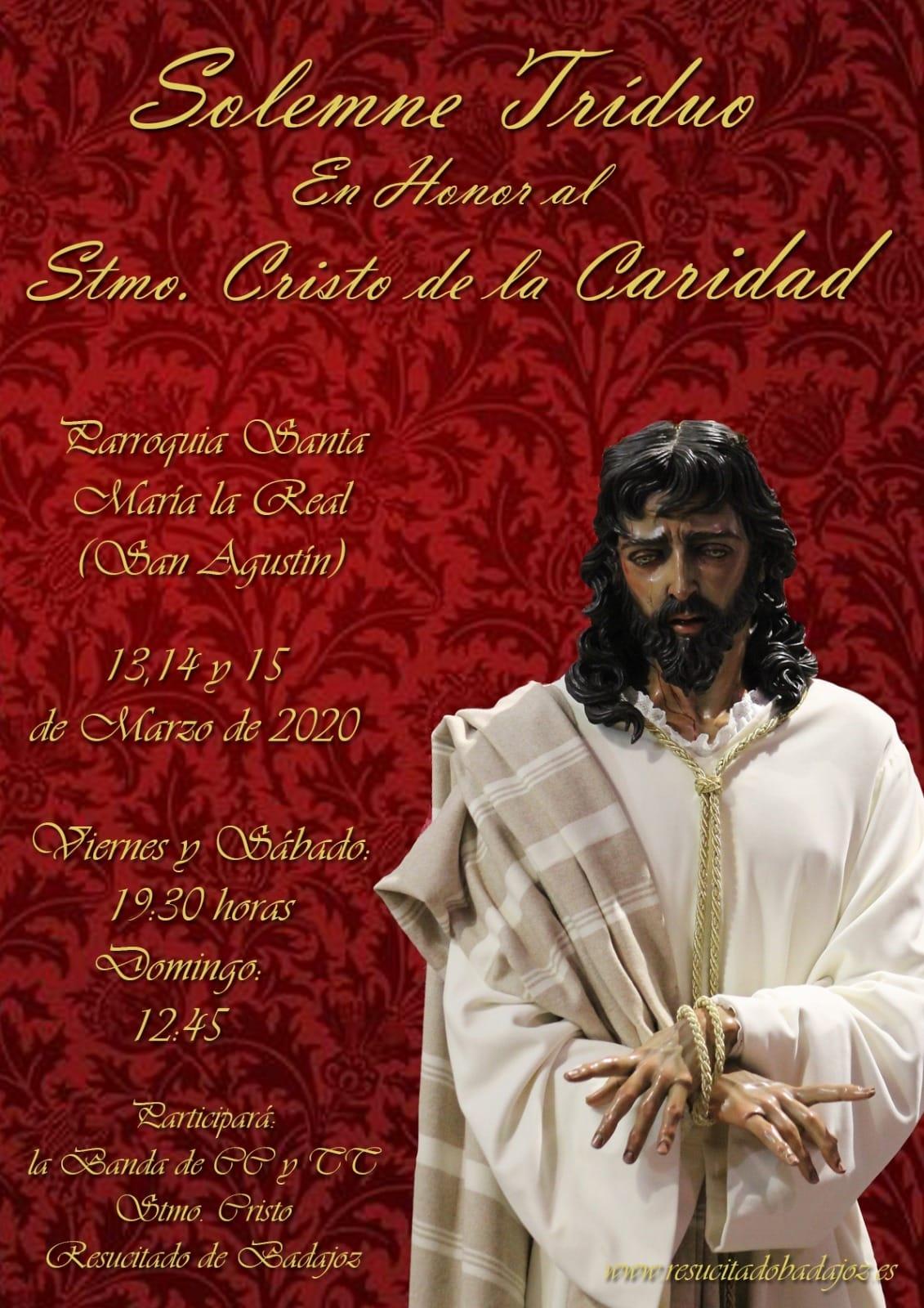Triduo en honor al Stmo. Cristo de la Caridad
